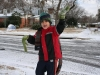 Luke dances in the snow