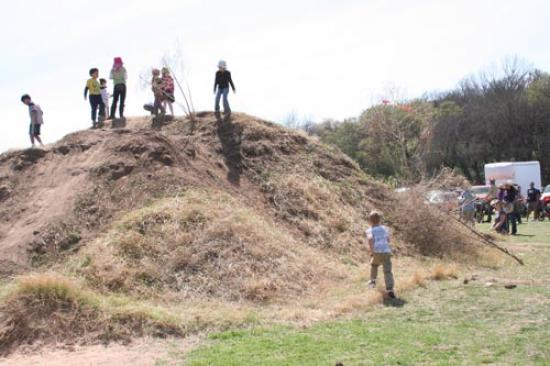 Clicmbing a hill