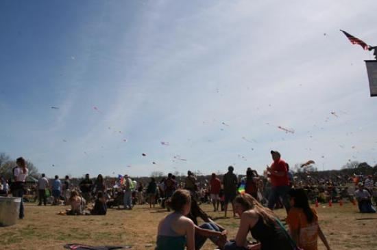 Kites over Zilker Park