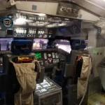 Inside the space shuttle replica