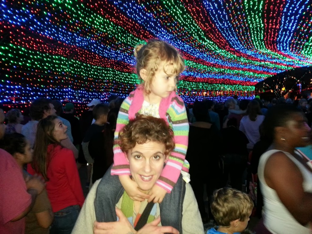 Mads and me at Trail of Lights