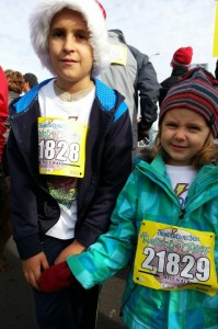 Luke and Mads at Turkey Trot
